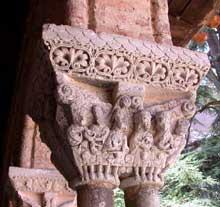 Moissac, abbaye saint Pierre: le cloître, galerie est: les noces de Cana