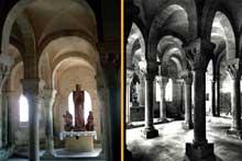 Mont Devant Sassey (Meuse): église Notre Dame de l'Assomption. La crypte