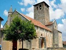 Monsempron Libos (Lot et Garonne): église prieurale saint Géraud. Façade et côté sud