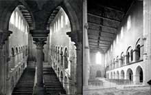 Montier en Der (Haute Marne): abbatiale saints Pierre et Paul. Elévation de la nef