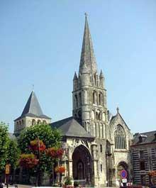 Montivilliers (Seine Maritime): église abbatiale saint Sauveur ou Notre Dame. Vue générale