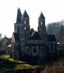 Morienval (Oise)�: abbatiale sainte Marie. Le chevet