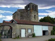 Mozac (Puy du Dôme): l'abbaye saint Pierre. Le clocher de l'abbatiale