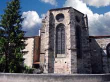 Mozac (Puy du Dôme): l'abbaye saint Pierre. Le chevet de l'abbatiale