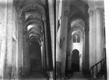 Mozac (Puy du Dôme): l'abbaye saint Pierre. Le déambulatoire