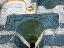 Murato (Haute Corse): l'église San Michele. Nef nord, fenêtre est: le péché originel