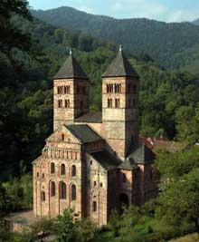 Murbach en Alsace: le chevet de l'église romane
