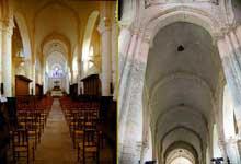 Nouaillé-Maupertuis (Vienne): abbaye Saint Junien. La nef en berceau brisé