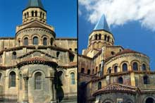Paray Le Monial (Saône et Loire): la Basilique. Le chevet