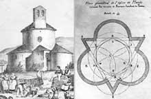 Planès (Pyrénées Orientales): Notre Dame de la Merci. Gravure et plan