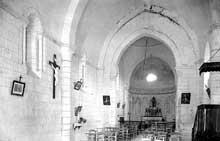 Plassac (Charente): église saint Cybard. Nef et chœur