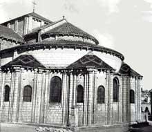 Poitiers (Vienne): saint Hilaire. Le chevet