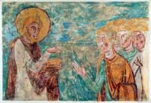 Poitiers (Vienne): saint Hilaire. Fresques du cycle de saint Hilaire