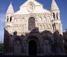 Poitiers (Vienne): Notre Dame la Grande: la façade occidentale