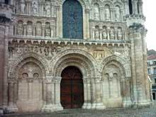 Poitiers, Notre Dame la Grande: les portails de la façade occidentale