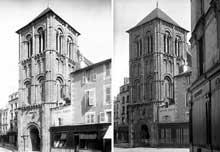 Poitiers (Vienne): saint Porchaire. Le clocher-porche