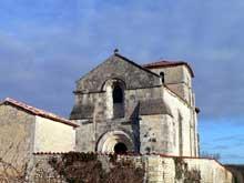 Blanzac Porcheresse (Charente): église saint Cybard. Vue générale