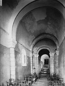 Blanzac Porcheresse (Charente): église saint Cybard. La nef