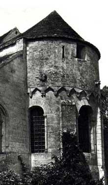 Presles (Aisne): église saint Georges. Le chevet