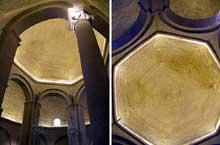 Rieux Minervois (Aude): église sainte Marie. La coupole heptagonale