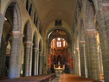 Riom: l'église basilique saint Amable. L'intérieur