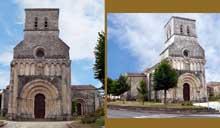 Rioux (Charente Maritime): église Notre Dame. Vue générale