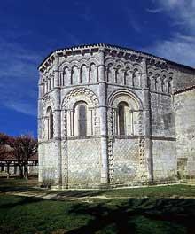 Rioux (Charente Maritime): église Notre Dame. L'abside