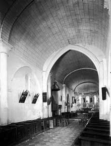 Rioux (Charente Maritime): église Notre Dame. La nef