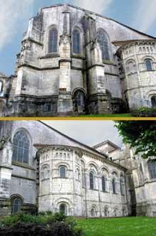 Saintes (Charente Maritime), saint Eutrope. Chevet et bas-coté sud