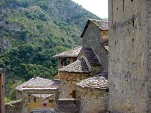 Eglise de la Madone del Poggio à Saorge en Alpes Maritimes. Le chevet