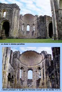 La Sauve Majeure (Gironde): abbaye Notre Dame de la Grande Sauve. Les absides du chevet