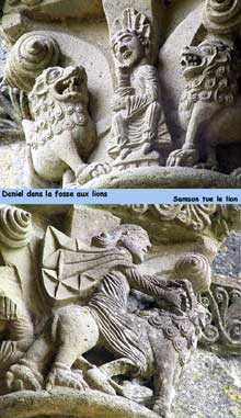 La Sauve Majeure (Gironde): abbaye Notre Dame de la Grande Sauve. Chapiteaux