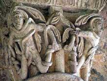 La Sauve Majeure (Gironde): abbaye Notre Dame de la Grande Sauve. Chapiteau