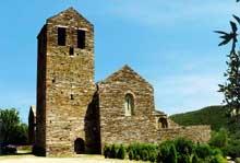 Boule d'Amont (Pyrénées Orientales): le prieuré Sainte Marie de Serrabone