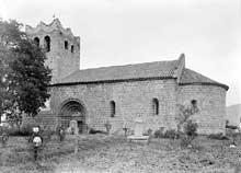 Serralongue (Pyrénées Orientales): l'église sainte Marie