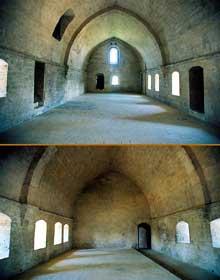La Roque d'Anthéron (Bouches du Rhône): abbaye de Silvacane: le dortoir des moines