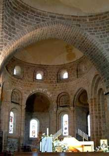 Solignac (Haute Vienne): l'abbatiale saint Pierre: le chœur