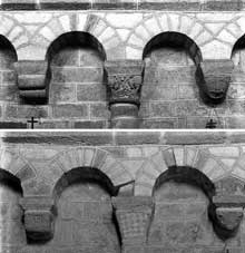 Solignac (Haute Vienne): l'abbatiale saint Pierre: partie haute de la nef