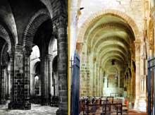 Souvigny (Allier): l'abbatiale Saint-Pierre et Saint-Paul. Les doubles collatéraux nord