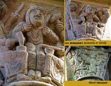 Souvigny (Allier): l'abbatiale Saint-Pierre et Saint-Paul. Chapiteaux