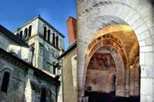 Saint Aignan sur Cher (Loire et Cher): tour de croisée et crypte