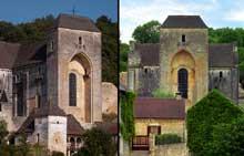 Saint Amand de Coly (Dordogne): église abbatiale. Façade occidentale