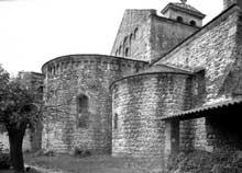 Saint André de Sorède (Pyrénées Orientales): le chevet de l'église