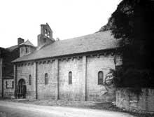 Saint Béat (Haute Garonne): église saint Cyriaque. Face sud
