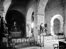 Saint Béat (Haute Garonne): église saint Cyriaque. La nef et le chœur