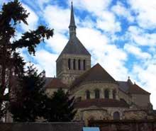 Saint Benoît sur Loire (Loiret): abbaye saint Fleury. Le chevet