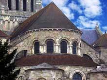 Saint Benoît sur Loire (Loiret): abbaye saint Fleury. Le chevet, détail