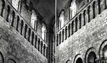 Saint Benoît sur Loire (Loiret): abbaye saint Fleury. Elévation de la nef