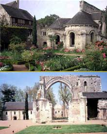 Saint Cosme (Indre et Loire): prieuré cistercien. Ruines de l'église