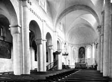 Saint Dié (Vosges) «Petite église» ou Notre Dame de Galilée. La nef et le chœur